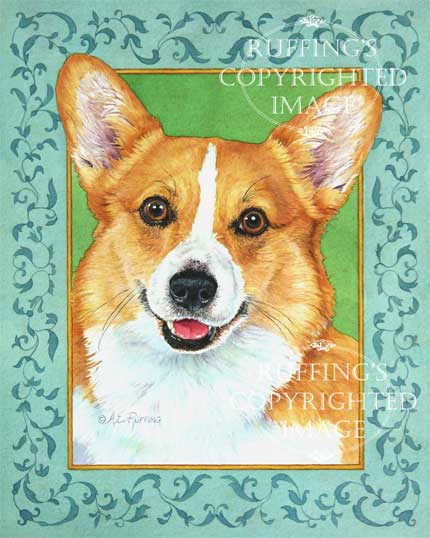 A Friendly Face, Corgi fine art print by A E Ruffing