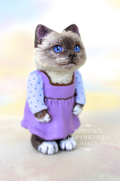 Alice, Original One-of-a-kind Dollhouse-sized Birman Kitten Art Doll by Max Bailey