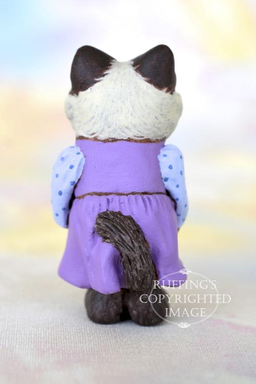 Alice, Original One-of-a-kind Dollhouse-sized Birman Kitten Art Doll by Max Bailey