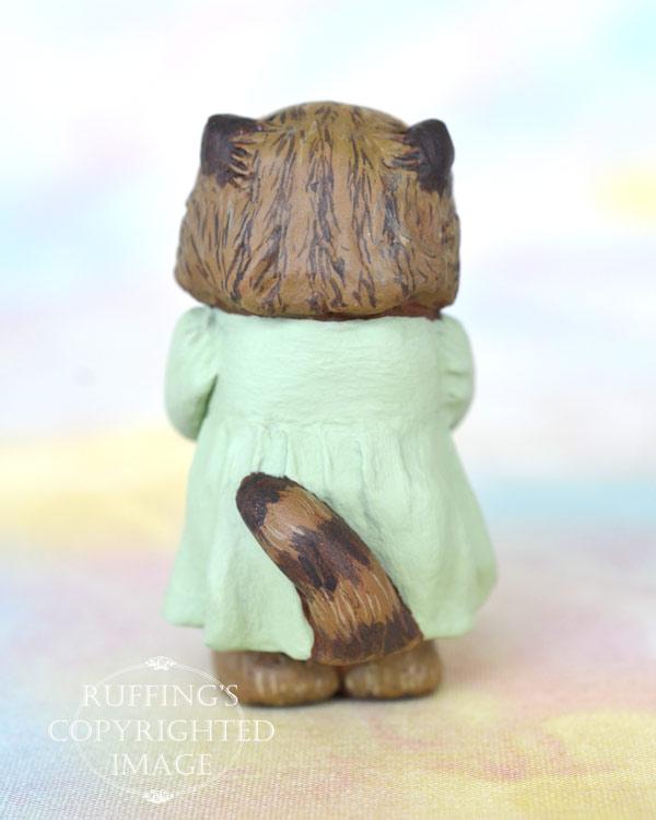 Alva, miniature tabby Persian cat art doll, handmade original, one-of-a-kind kitten by artist Max Bailey