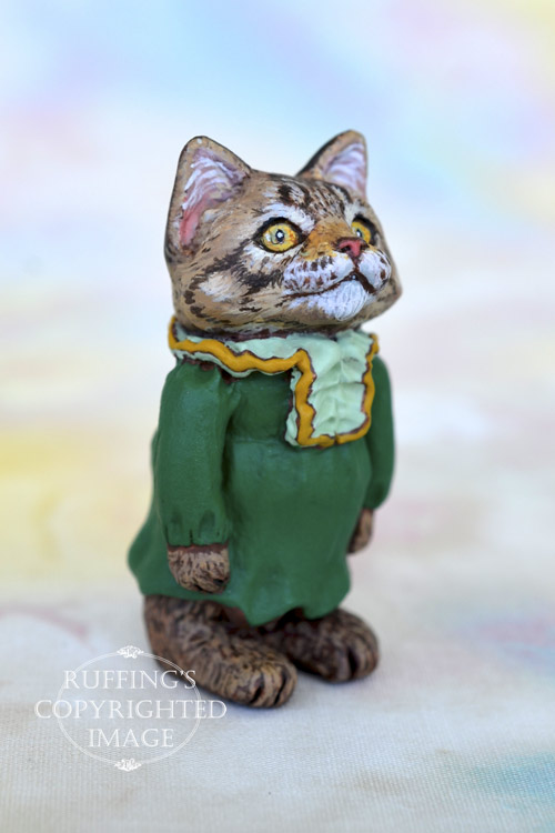 Ingrid, Original One-of-a-kind Dollhouse-sized Ragdoll Kitten by Art Doll Max Bailey