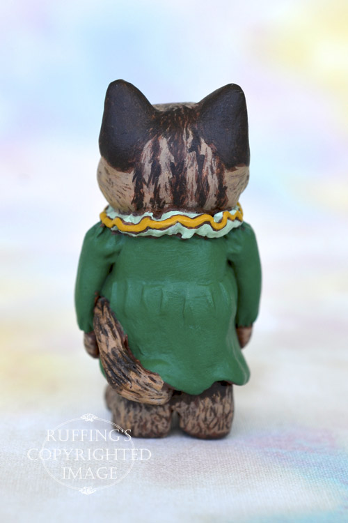 Angel, Original One-of-a-kind Dollhouse-sized Maine Coon Kitten by Art Doll Max Bailey