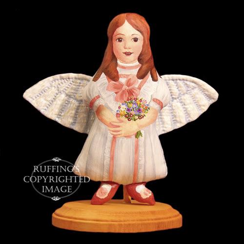 April May, Original One-of-kind Folk Art Angel Doll by Elizabeth Ruffing