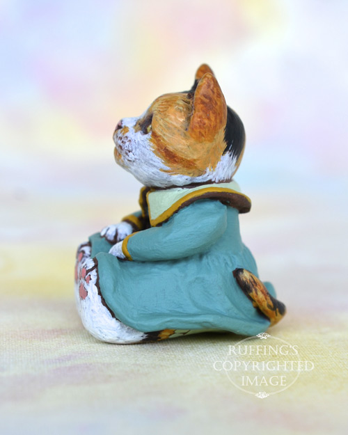 Callie, Original One-of-a-kind Dollhouse-sized Calico Kitten by Max Bailey