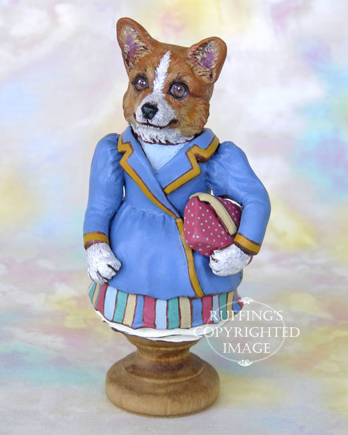 Cassie Corgi, Original One-of-a-kind Folk Art Dog Doll Figurine by Max Bailey