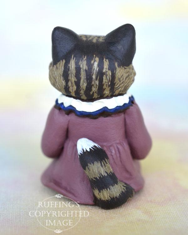 Cathryn, miniature Norwegian Forest Cat art doll, handmade original, one-of-a-kind kitten by artist Max Bailey