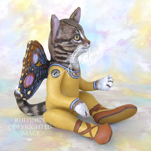 Celeste the Pixie Kitten, Original One-of-a-kind Cat Art Doll by Max Bailey and Elizabeth Ruffing