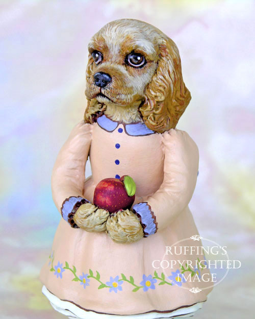 Charlotte the Cocker Spaniel, Original One-of-a-kind Folk Art Dog Doll Figurine by Max Bailey