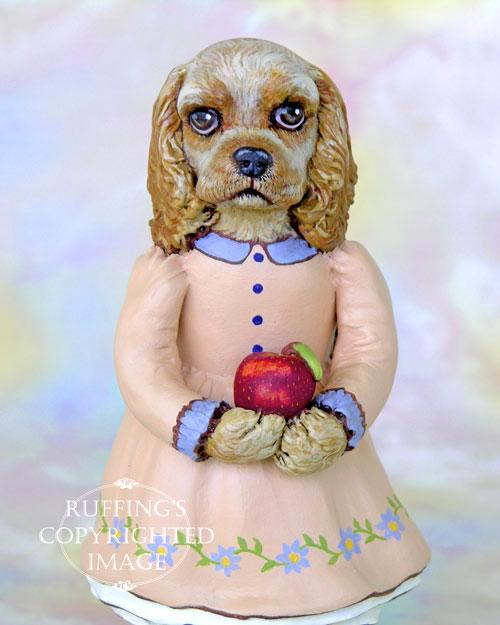 Charlotte the Cocker Spaniel, Original One-of-a-kind Folk Art Dog Doll Figurine by Max Bailey