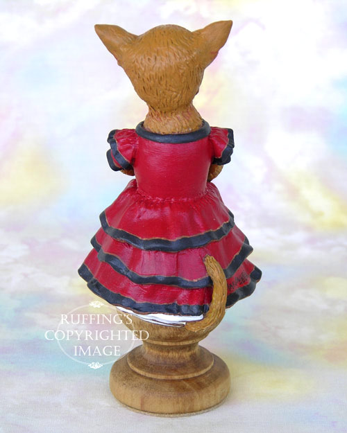 Chi-Chi the Chihuahua, Original One-of-a-kind Folk Art Dog Doll Figurine by Max Bailey