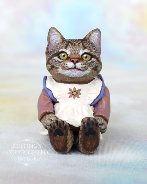 Cinnamon, Original One-of-a-kind Miniature Tabby Kitten Art Doll by Max Bailey