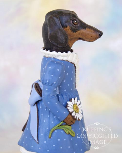 Daisy the Dachshund, Original One-of-a-kind Dog Doll Figurine by Max Bailey