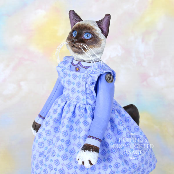 Deirdre, Original One-of-a-kind Birman Cat Art Doll by Max Bailey