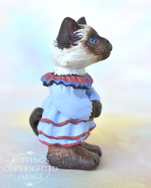Aunt Helen, miniature Ragdoll cat art doll, handmade original, one-of-a-kind cat by artist Max Bailey