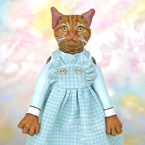 Eloise, Original One-of-a-kind Ginger Tabby Cat Art Doll by Max Bailey