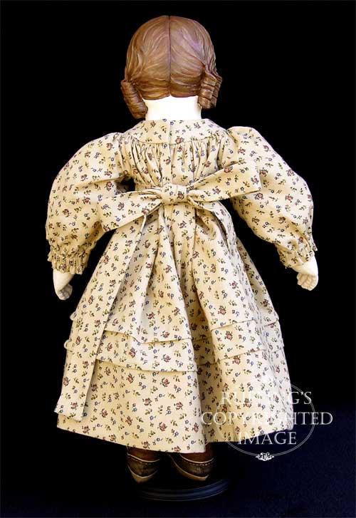 Emily handmade original one-of-a-kind art doll by Elizabeth Ruffing, Ruffing's