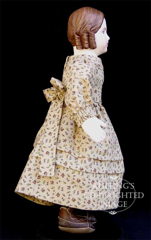 Emily handmade original one-of-a-kind art doll by Elizabeth Ruffing, Ruffing's