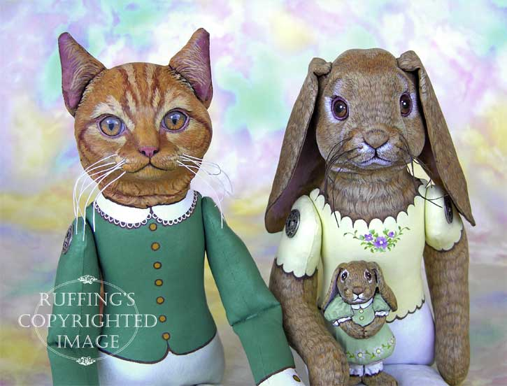 Emily and Edwin, Beatrice and Beulah, Original One-of-a-kind Folk Art Dolls by Max Bailey and Elizabeth Ruffing