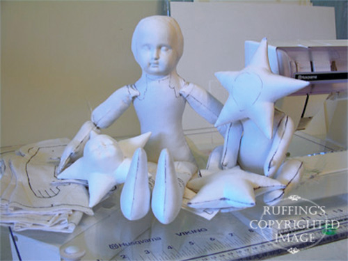 Elizabeth Ruffing's doll pattern sketches
