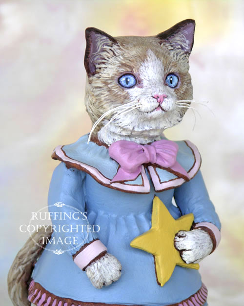 Max Bailey Felicity Ragdoll Kitten Original Folk Art Doll