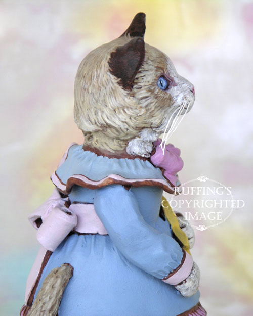 Felicity the Ragdoll Kitten, Original One-of-a-kind Folk Art Doll Figurine by Max Bailey