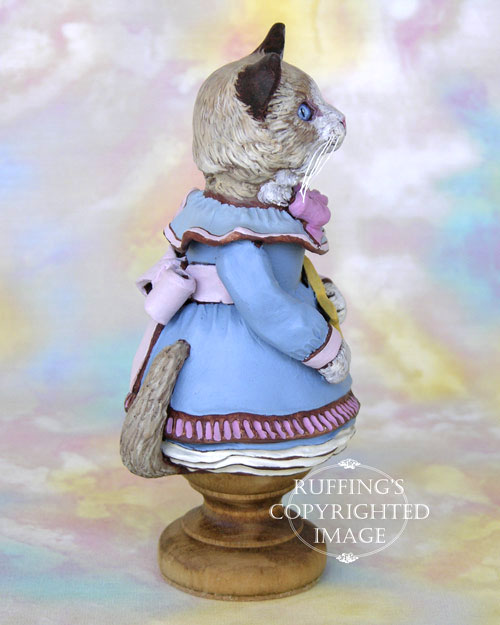 Felicity the Ragdoll Kitten, Original One-of-a-kind Folk Art Doll Figurine by Max Bailey