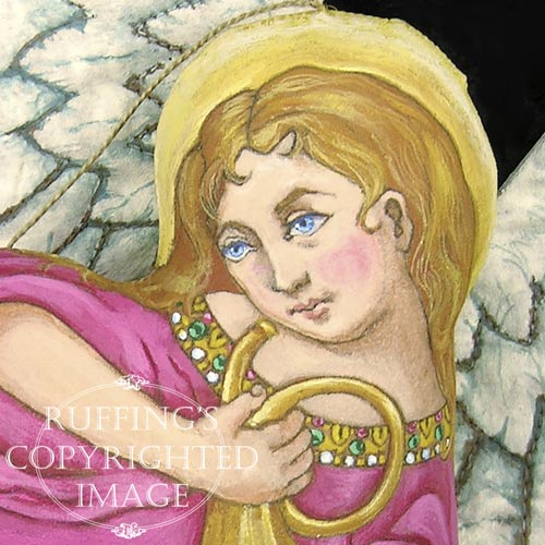 Gabriella, Original One-of-a-kind Folk Art Angel Ornament by Max Bailey