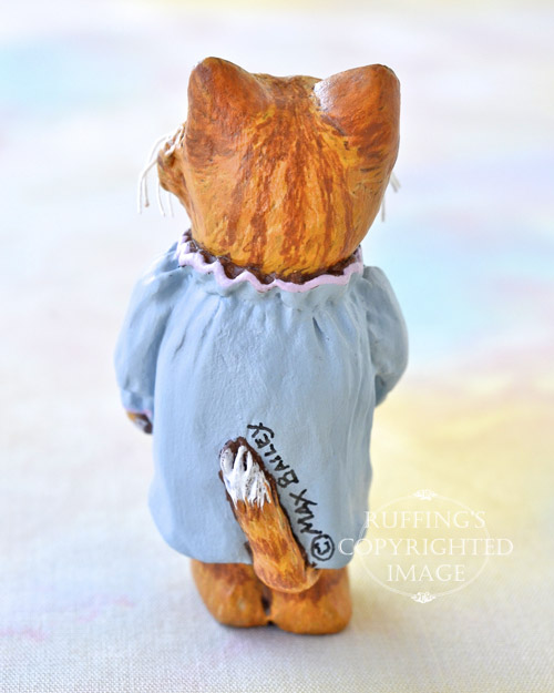 Ginnie, Original One-of-a-kind Dollhouse-sized Ginger Tabby Kitten Art Doll by Max Bailey