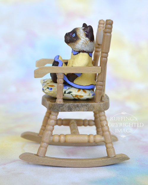 Isabelle, Original One-of-a-kind Dollhouse-sized Ragdoll Kitten by Max Bailey