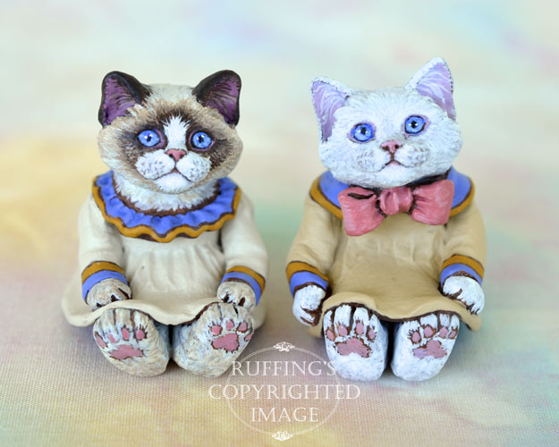 Ivy, miniature Ragdoll cat art doll, handmade original, one-of-a-kind kitten by artist Max Bailey