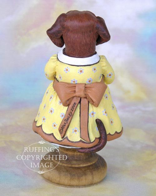 Janie the Dachshund, Original One-of-a-kind Folk Art Dog Doll Figurine by Max Bailey