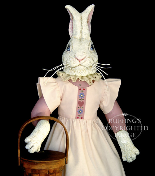 Lila Lovebunny, Original One-of-a-kind Bunny Rabbit Folk Art Doll by Max Bailey