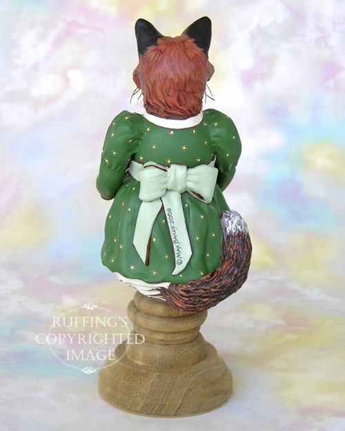 Loxie the Red Fox, Original One-of-a-kind Folk Art Doll Figurine by Max Bailey