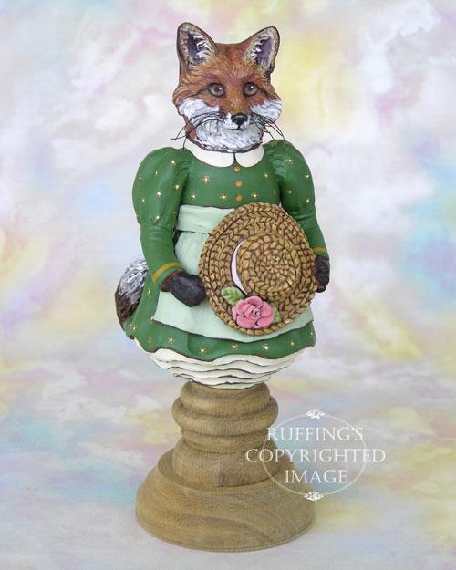 Loxie the Red Fox, Original One-of-a-kind Folk Art Doll Figurine by Max Bailey