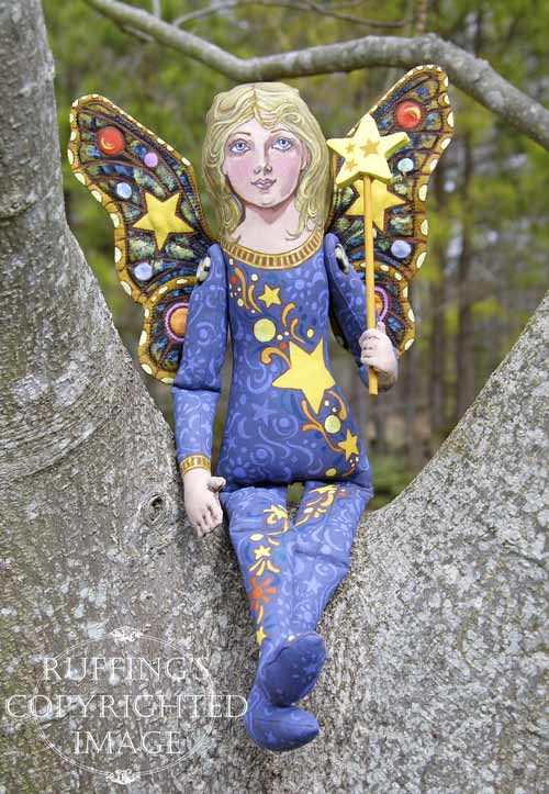 Lumina, Original One-of-a-kind Folk Art Fairy Doll by Max Bailey