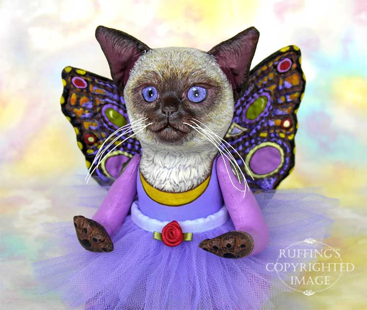 Luna the Pixie Kitten Folk Art Cat Doll by Max Bailey and Elizabeth Ruffing