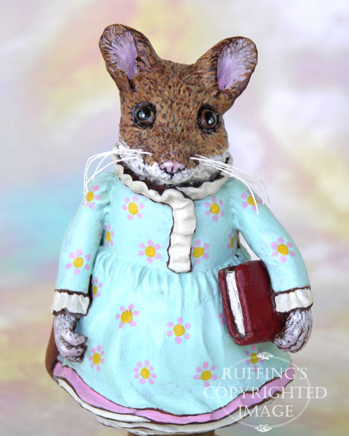 Marla Mouse, Original One-of-a-kind Folk Art Doll Figurine by Max Bailey
