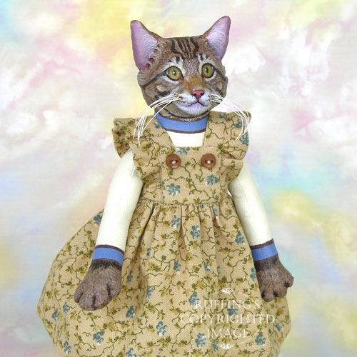 Marnie, Original One-of-a-kind Maine Coon Cat Art Doll by Max Bailey