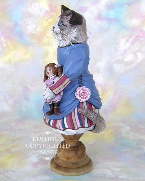 Maryanne the Ragdoll Cat, Original One-of-a-kind Folk Art Doll Figurine by Max Bailey