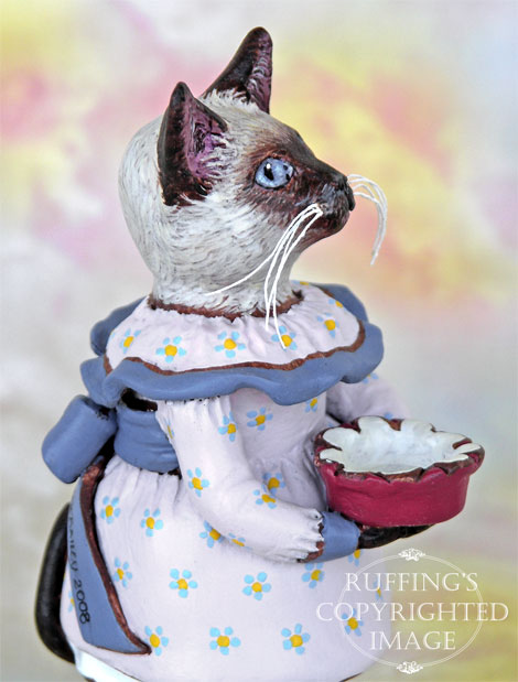 Crocus the Siamese Kitten, Original One-of-a-kind Folk Art Cat Doll Figurine by Max Bailey