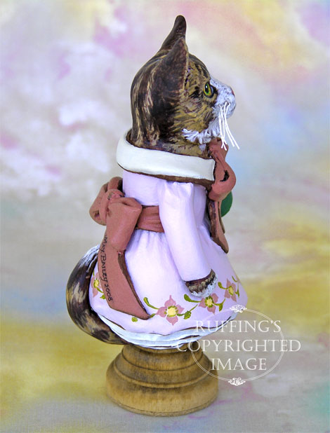 Tabitha the Tabby Kitten, Original One-of-a-kind Folk Art Cat Doll Figurine by Max Bailey
