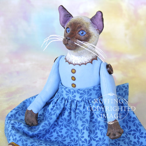 Melody, Original One-of-a-kind Siamese Cat Art Doll by Max Bailey