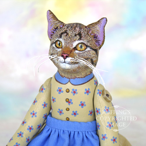 Minnie, Original One-of-a-kind Tabby Cat Art Doll by Max Bailey