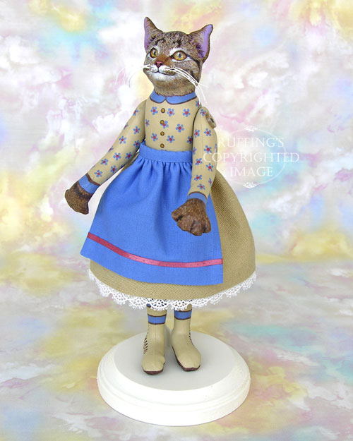 Minnie the Tabby Cat, Original One-of-a-kind Art Doll by Max Bailey