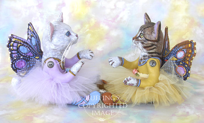Pixie Kittens, Original One-of-a-kind Cat Fairy Art Dolls by Max Bailey and Elizabeth Ruffing