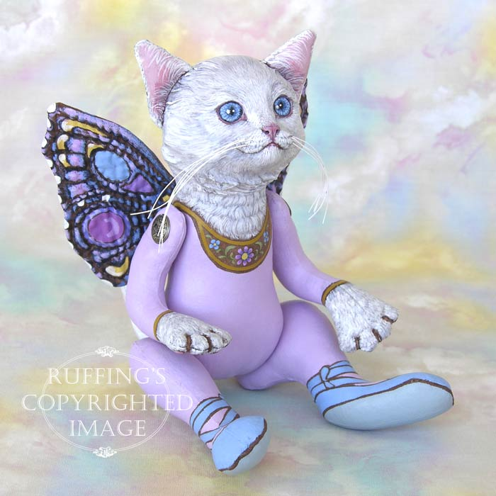 Opal the Pixie Kitten, Original One-of-a-kind Cat Fairy Art Doll by Max Bailey and Elizabeth Ruffing