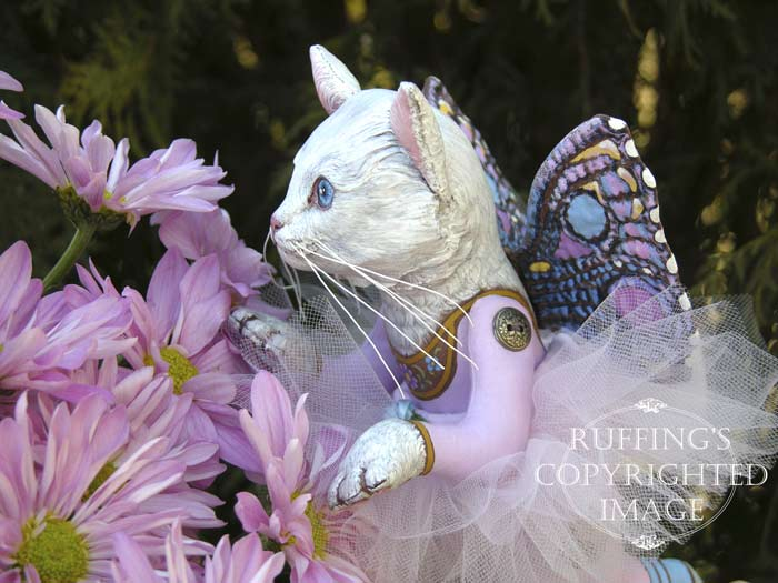 Opal the Pixie Kitten, Original One-of-a-kind Cat Art Doll by Max Bailey and Elizabeth Ruffing