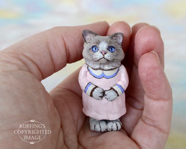 Pamela, Original One-of-a-kind Dollhouse-sized Ragdoll Kitten by Max Bailey