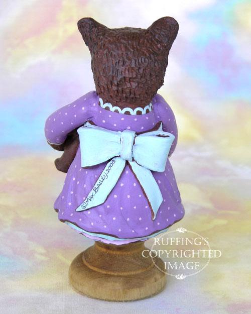 Patsy the Brown Bear Cub, Original One-of-a-kind Folk Art Doll Figurine by Max Bailey