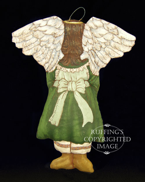 Patience the Peace Angel, Original One-of-a-kind Folk Art Doll Ornament by Max Bailey